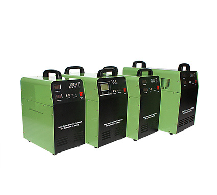 Solar power system with build-in solar inverter, controller and batteries AL-300W-1200