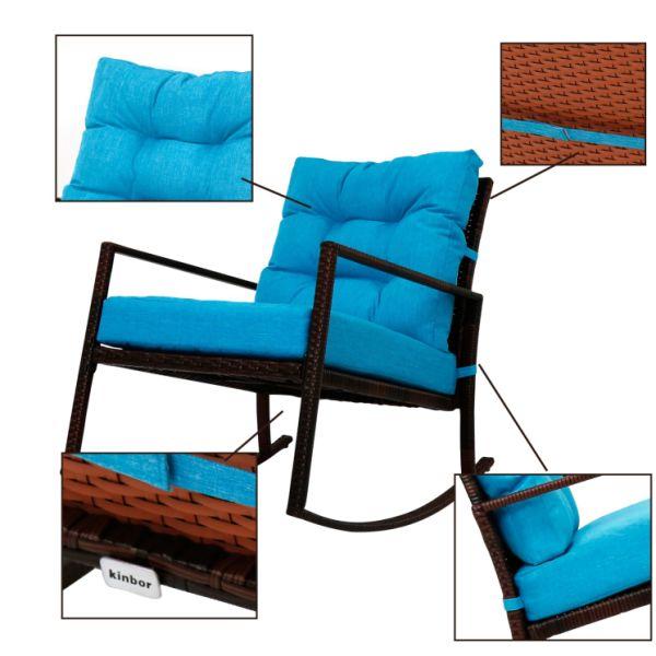 Shop For Kinbor Rattan Rocker Chair Outdoor Garden Rocking
