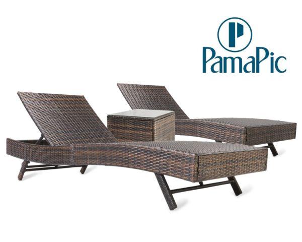 Shop For 3 PCS Outdoor Patio Chaise Lounge Chair Set