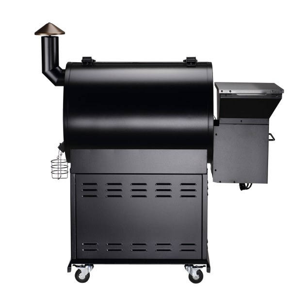 Z Grills Wood Pellet Grill, 2018 New Model ZPG-700E, 8 in 1 BBQ Auto Temperature Control, 694 sq inch Cooking Area, Sliver and Black, Free Patio Cover