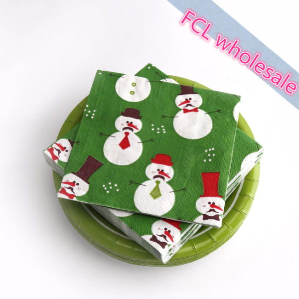 Christmas Paper Plates And Napkins.Kinbor 25 Sets 7 Winter Holiday Christmas Snowman Theme Party Dinnerware Supplies Disposable Paper Plates Napkins Green 25 Sets Carton