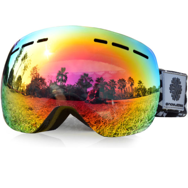 8efcb7ffdf4c Snowledge Ski Goggles - Frameless Double Lens Anti-fog Snowboard Goggles  for Men