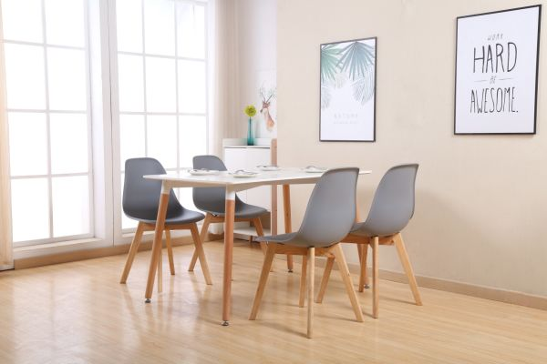 Eames Style Chairs By Santang Dining Gray Set Of