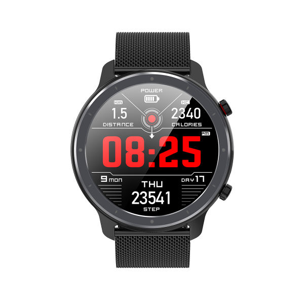 CYBORIS IP68 Waterproof 1.3inch full round display long battery life smart watch Heart rate ECG Blood pressure Blood oxygen steps stopwatch music control bluetooth camera