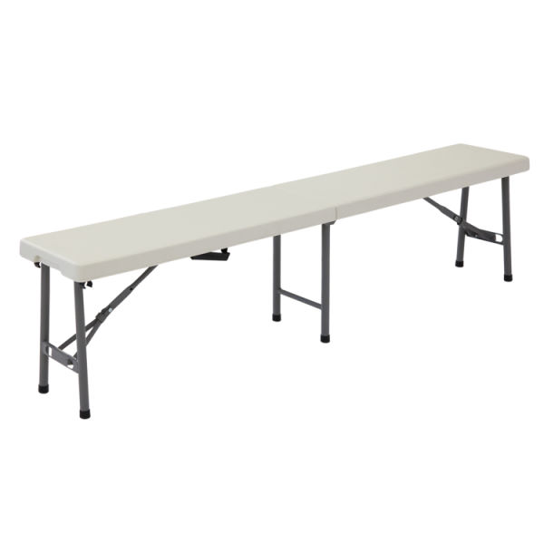Tremendous Kinbor 6 Portable Plastic Indoor Outdoor Picnic Party Camping Dining Folding Bench Chair White 1 Piece Carton Ibusinesslaw Wood Chair Design Ideas Ibusinesslaworg