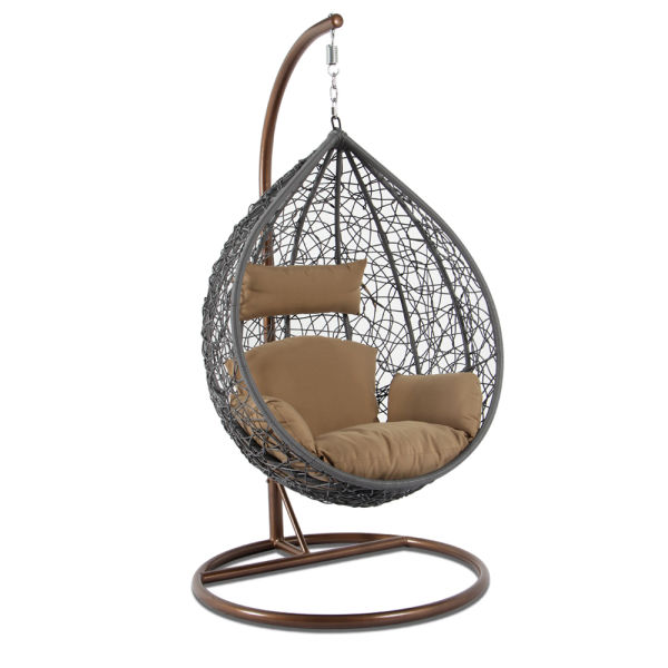 Shop For High End Outdoor Furniture Grey Wicker Hanging Swing Chair - Hanging-swing-outdoor-furniture