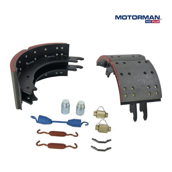 (MOTORMAN HD) Truck and Trailer Brake Shoe with Meritor Q & Q Plus,Spicer  Fast Change & XLII, Hendrickson Intraax Brakes 1 Pair / Box
