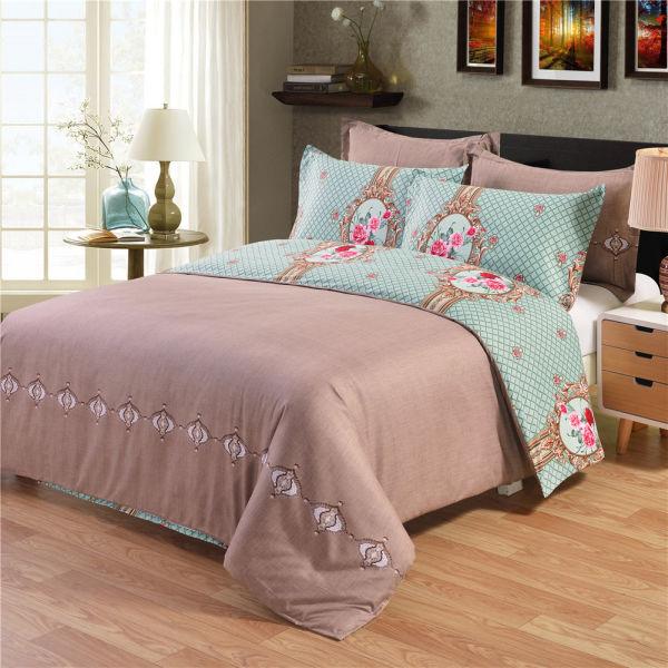 Shop For 3pc Floral Plaid Print Duvet Cover Set With 2