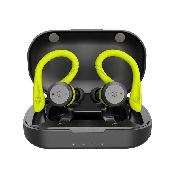 Shop For Cyboris Bluetooth 5 0 Headset Tws Dual Bluetooth Headset True Wireless Ipx7 Waterproof With Ear Hook In Ear Noise Canceling Headphones Green At Wholesale Price On Crov Com