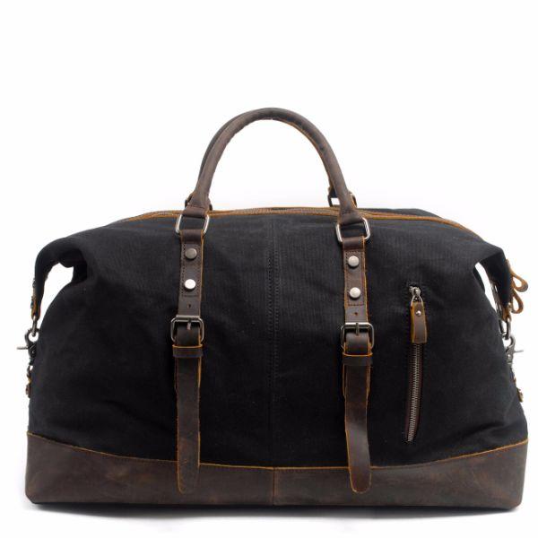REDSWAN Oversized Travel Duffel Bag Canvas Leather Trim Overnight Bag Sport  Duffel Shoulder Handbag Large Unisex a937ad65f6b16