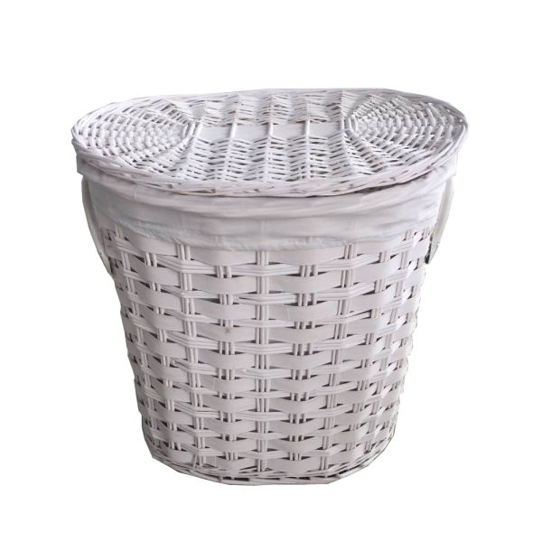 Shop For Sanjet Willow Laundry Storage Baskets With Lid