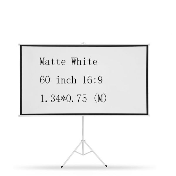 60inch 16:9 Tripod Portable Folded Projection Screen HD Floor Stand Stronger Bracket Screens High Quality Matt White Pantalla Proyector Tripode