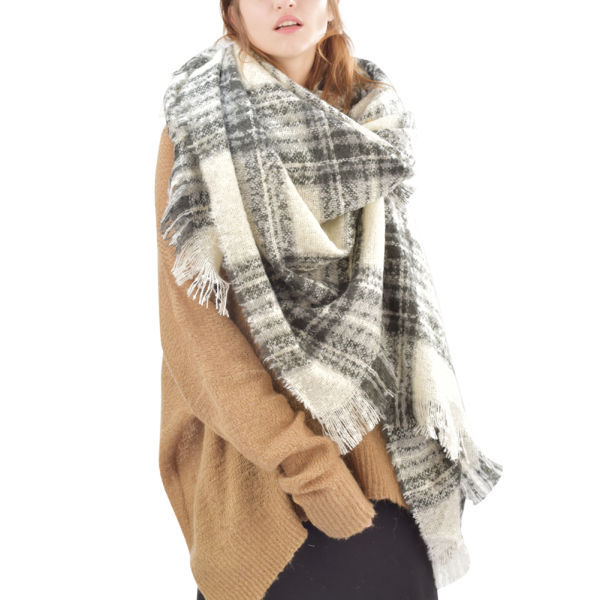 ca4fa4fbbe7f7 FURTALK Winter Scarf For Women Luxury Brand Shawls Poncho Plaid Women Scarves  Warm Winter Blanket SFFW021