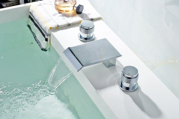 7 Faucet Finishes For Fabulous Bathrooms: Shop For FLG Deck Mounted Three Holes Double Handles