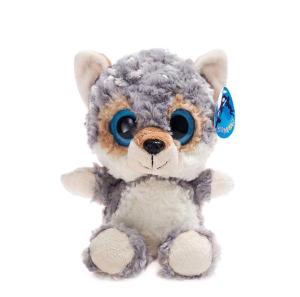 Shop For Big Eyes Grey Wolf Stuffed Animal Toys Cuddly Polyester