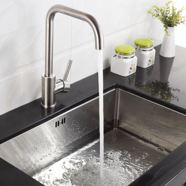 FLG 304 Solid Stainless Steel Kitchen Bar Sink Faucet Brushed Nickel 1  Piece / Box