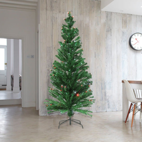 Artificial Christmas Tree Box.Shop For Kinbor 7ft Premium Spruce Hinged Artificial