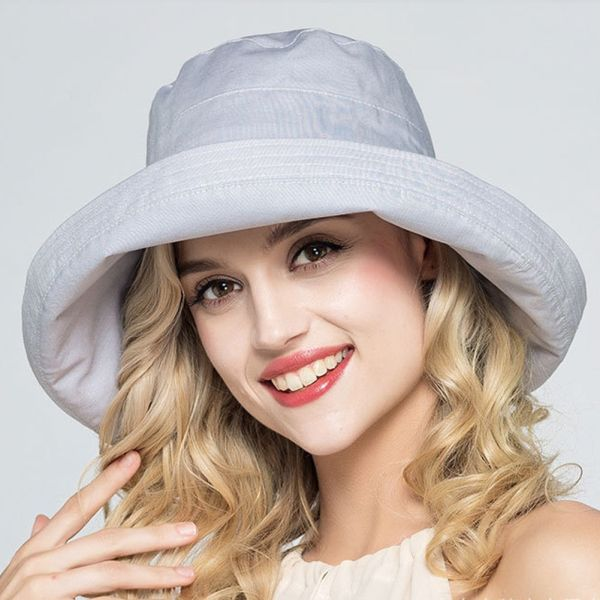 5b153d1dad52e5 FURTALK Women Bucket Hat for Fishing Beach Cotton Summer Sun Hats for Women  Fashion Design Foldable