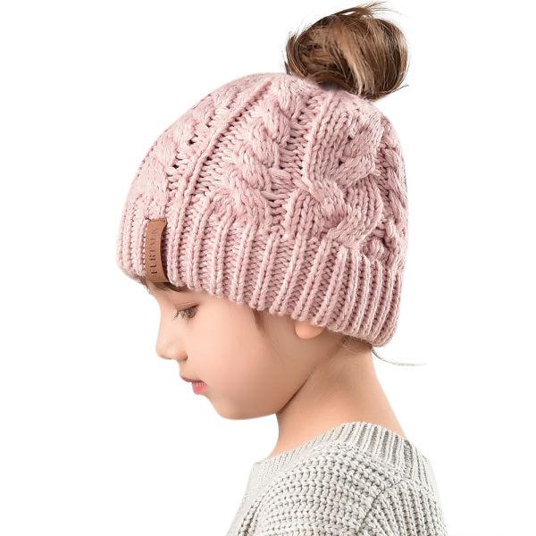 e4e2ae72746d Shop for Furtalk Winter Hats For Girls Ponytail Beanie Hat Kids ...