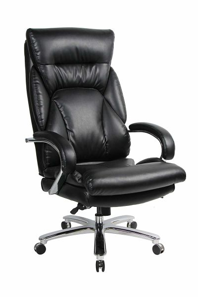 Outstanding Viva Office 350Lbs Capacity Big Tall High Back Swivel Pu Leather Office Chair Tilt Tension Lumbar Support 1 Unit Carton Home Interior And Landscaping Palasignezvosmurscom