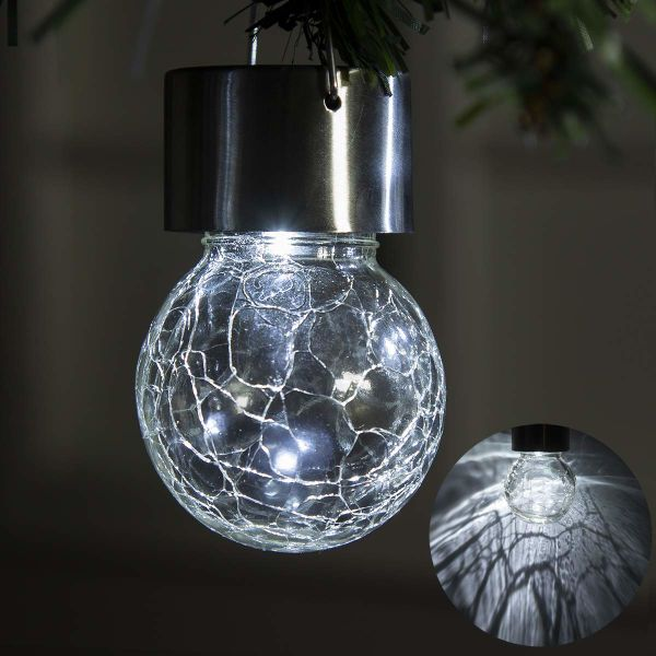 Gigalumi 4 Pack Hanging Solar Lights White Led Le Globe Waterproof Outdoor