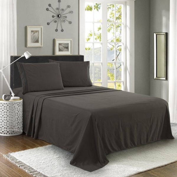 Shop For Luxe Manor 4pc King Size Bed Sheet Set Soft
