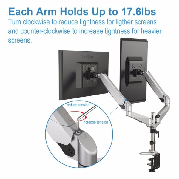 Shop For Dual Monitor Mount Full Motion Monitor Arm Stand
