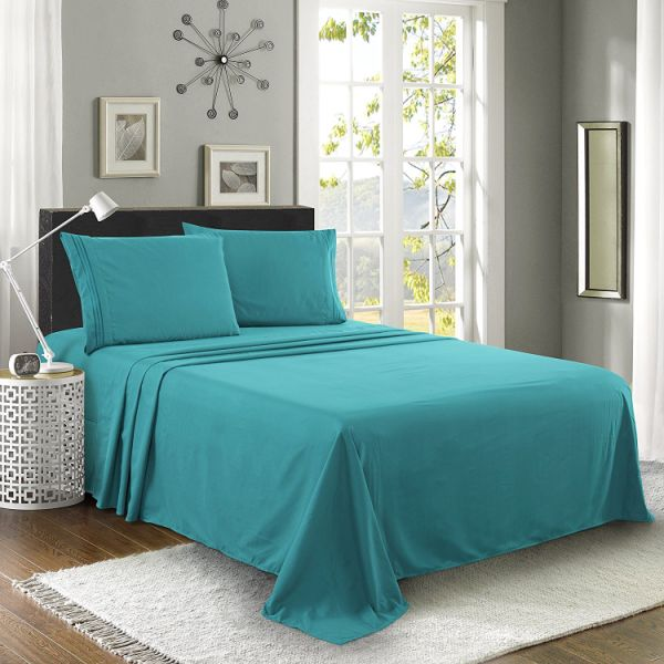 Shop for Luxe Manor 4pc Queen Size Bed Sheet Set-Soft ...