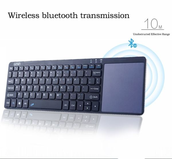 Wireless Keyboard, Gosin Ultrathin All in One Metal Bluetooth Keyboard  Touchpad for Mobile and Tablet with Windows Android,Touchpad Do Not Work  with