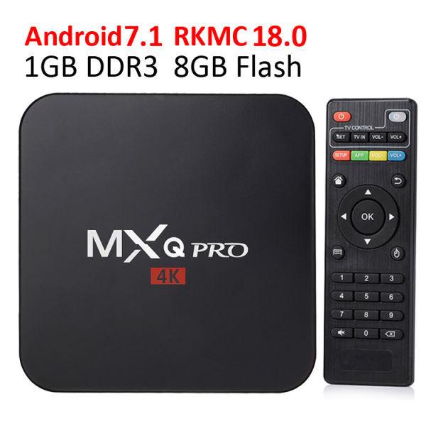 MXQ PRO Android7.1 TV Box Kdmc 18.0 RK3229 1GB 8GB 4K Quad Core WiFi Streaming Media Player Smart Boxes