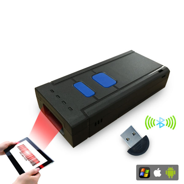 Bluetooth Mini Portable Barcode Scanner, Support iPad/iPhone/Android  Smartphone/PC Screen Scanning 1 Unit / Box