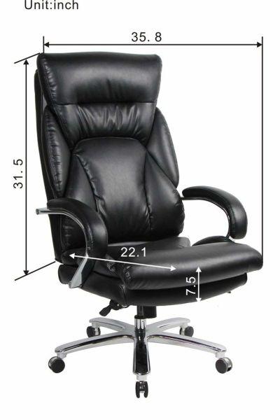 Viva Office 350lbs Capacity Big Tall High Back Swivel Pu Leather Office Chair Tilt Tension Lumbar Support 1 Unit Carton