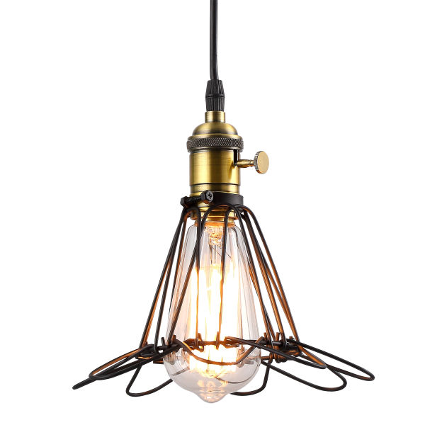 Industrial Style Kitchen Pendant Lights: Shop For HOMIFORCE Vintage Style 1-light Industrial Wire