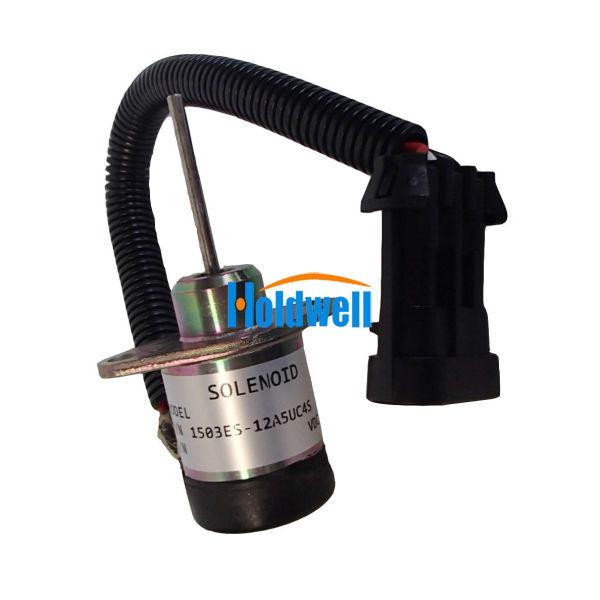 Holdwell Fuel Shut Off Solenoid Valve 6691498 for Bobcat S510 S530 T110  T140 T180 T190 12V 1 Piece / Carton