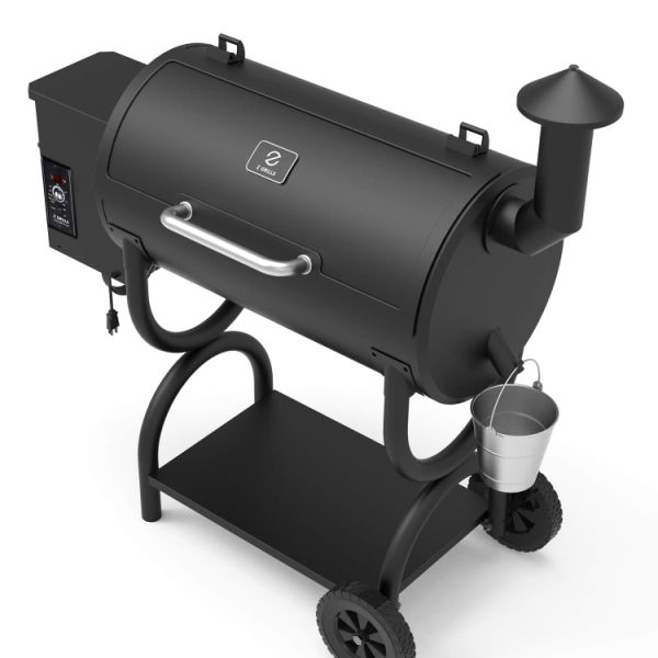 [Spring Promotion, Only $299] ZGRILLS Wood Pellet Grill Smoker Outdoor BBQ Grills and Smoker,550 Square Inches, Black