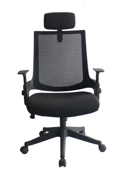 Heonsit Furniture Ergonomic Office Chair High Back Mesh Chair with Adjustable Headrest and Armrests, Tilt Lock, Lumbar Support Mesh Desk Executive Office Chair (Black)