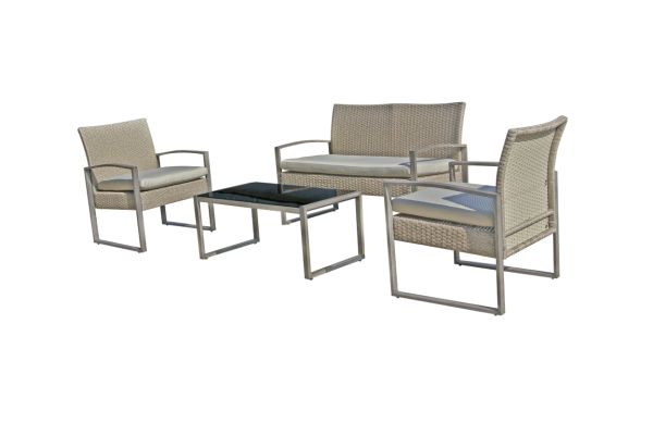 Superb Patio Furniture Outdoor Sofa Wicker Set Balcony Garden Wicker 4Piece Bistro Set By Stellahome 1 Set Carton Home Interior And Landscaping Staixmapetitesourisinfo
