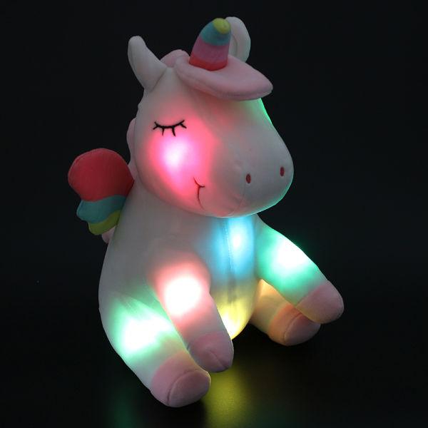 Shop For Dropshipping 30cm Led Light Up Plush Animals White Unicorn