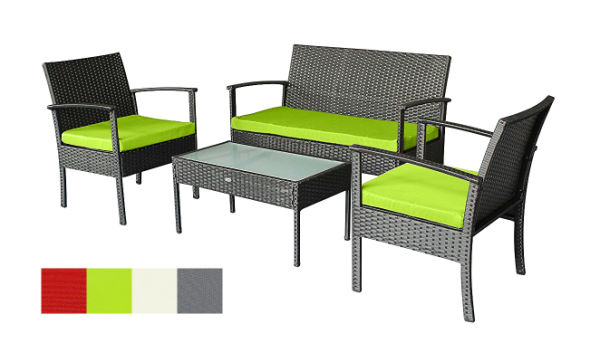Patio Furniture Sets Clearance Outdoor Set Small Rattan Wicker Chairs Backyard Porch W Extra