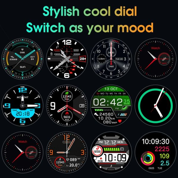 CYBORIS 2020 New Fashionable IP68 waterproof High-end smart watch Steps Sleep monitor Heart rate Bluetooth call Notifications sync