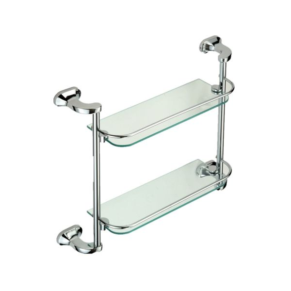 Shop For Surface Chrome Plated Bathroom Double Glass Shelves Of The