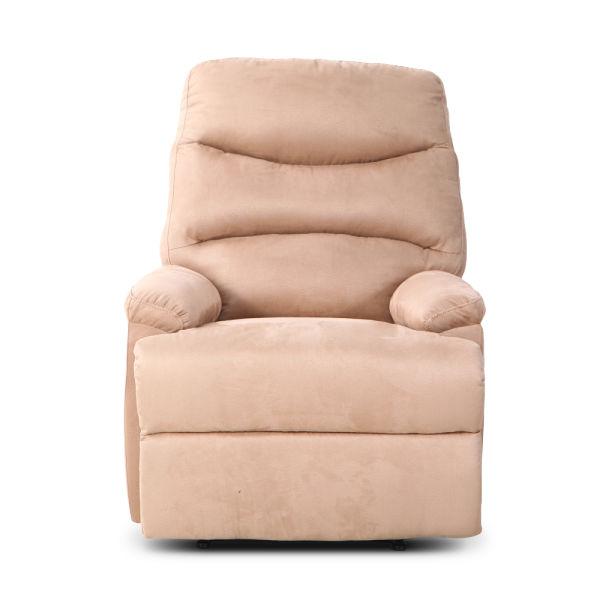 Admirable Qwork Single Recliner Armchair Ergonomic Reclining Sofa Chair Home Accent Chair Elegant And Comfortable Microfibre 1 Piece Carton Dailytribune Chair Design For Home Dailytribuneorg