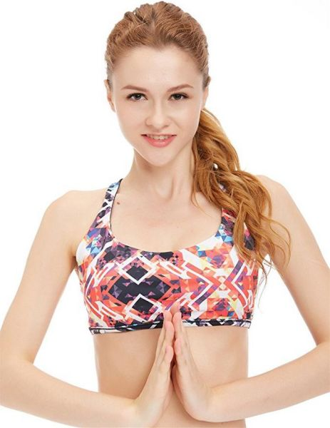 37a7e45af0969 icyZone Sports Bra Sexy Yoga Tops Fitness Activewear Workout Clothes for  Women S