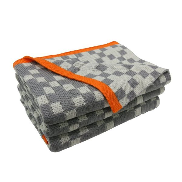 Shop For Fy Fiber House Plaid Knitted Throw Blanket For Couch Sofa