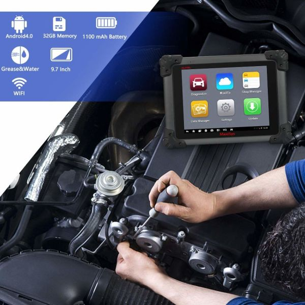 Autel Maxisys PRO Ms908p Automotive Diagnostic Tool (Same Functions as  Maxisyselite) With WiFi Bluetooth Jbox J2534 Vci Ecus Bcm PCM Reprogramming  and
