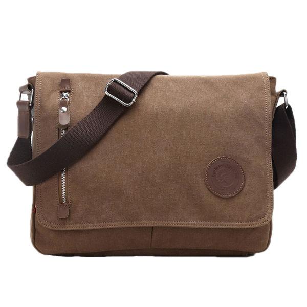 65fc805fd Egoelife Vintage Canvas Satchel Messenger Laptop Shoulder Crossbody Sling  Bag