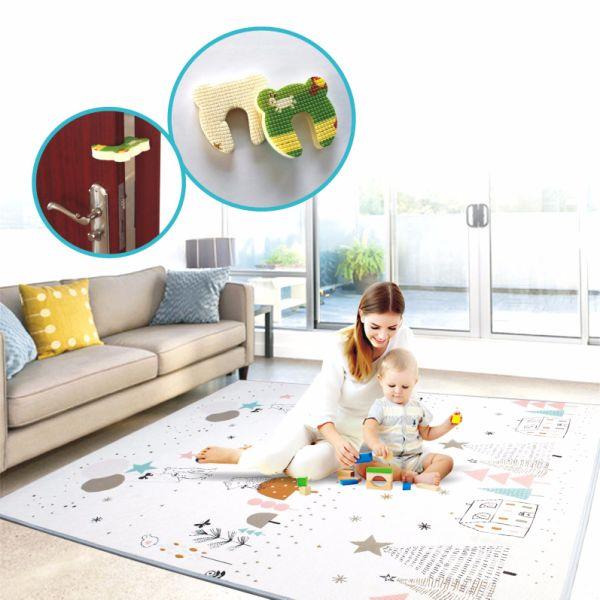 Play Mat Foam Floor Gym Slip Eversible Waterproof Portable Baby Toddler Outdoor Or Indoor Deer