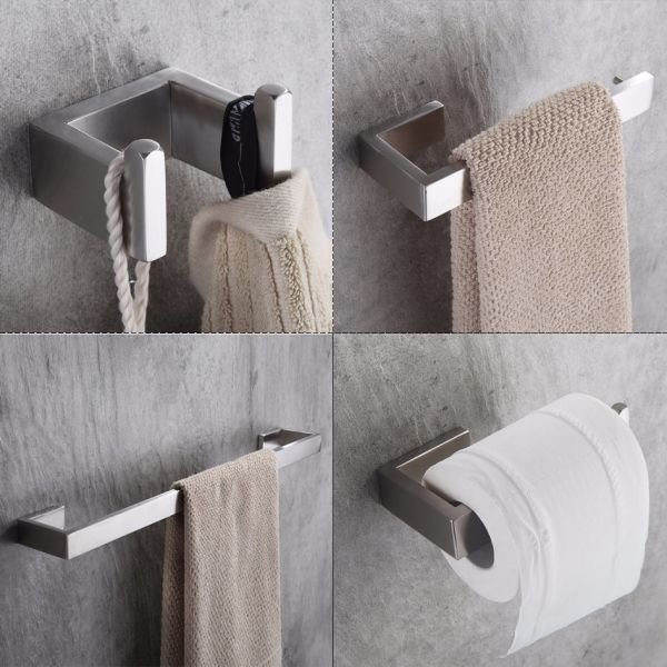Bathroom Hardware Sets Nickel.Shop For 304 Stainless Steel Nickel Brushed Wall Mount Bath Hardware