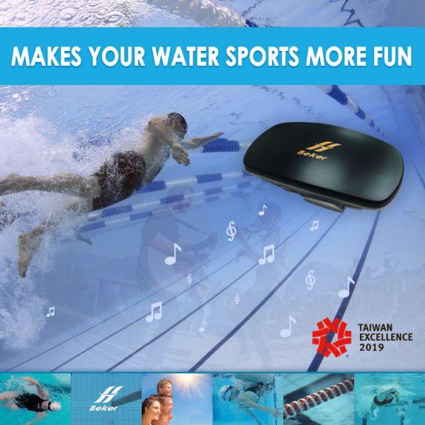 Black NEW HI BEKER 8G MP3 Player Waterproof IPX8 Sport Swimming Headphone