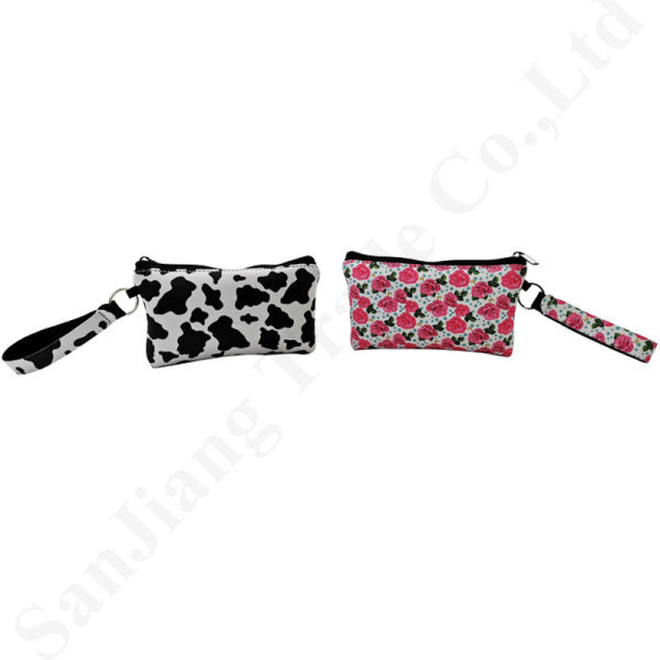 Neoprene RST Coin Pures Wallets Credit Card Storage Bags Women Wristlet Cluth Pouch Rose Leopard Totes Moneybag Handbag Change Pocket C82302